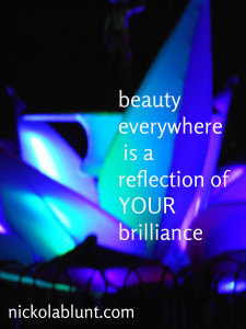 beauty everywhere is a reflection of your brilliance